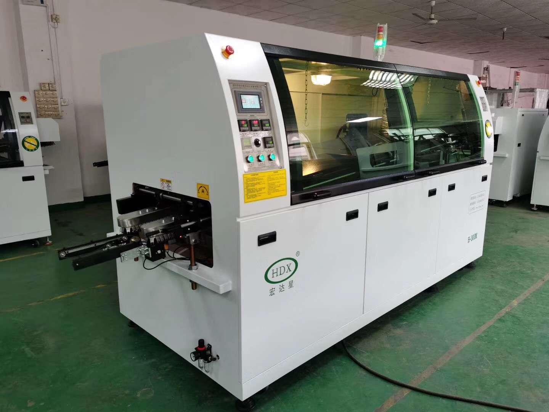 Mid size solder wave machine